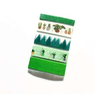 (Free NM)Green Themed Washi Tape Sample