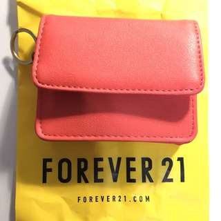 🚚 Forever 21 桃橘色小錢包