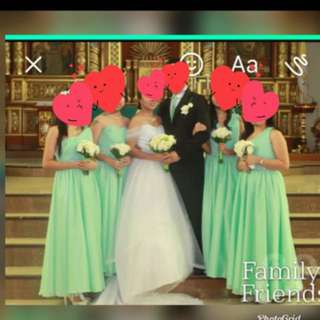 Mint green entourage gowns for sale