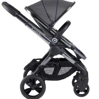 iCandy stroller black with bassinet