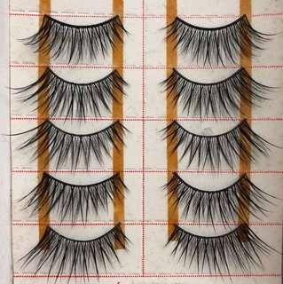 Fake eyelashes 5 pairs brand new