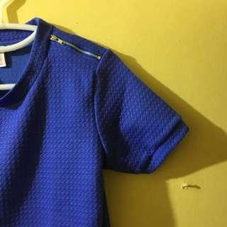Penshoppe blue/navy blue shirt