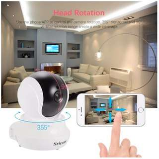 CCTV Wireless IP Camera - Mini, Moving Head, 2 Way Audio, Night Vision, Motion Detection