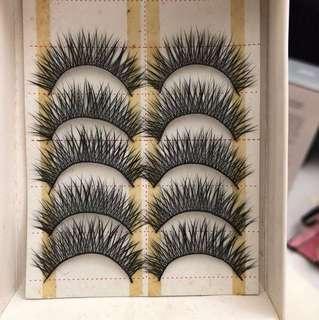 False eyelashes 5 pairs new