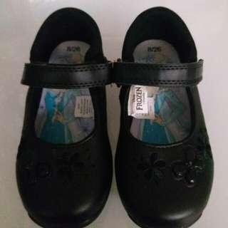 閃燈Frozen 黑皮鞋