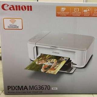 Canon MG3670 彩色掃描打印機