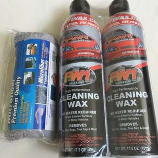 FW1 Cleaning Carnauba Wax with Free Microfiber Cloth - Amazing Quality Product!!!