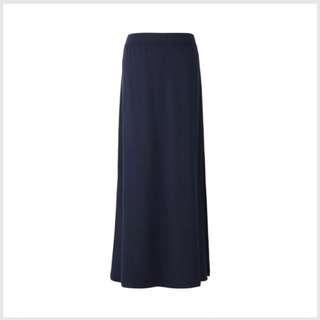 Uniqlo Jersey Maxi Skirt with Slits