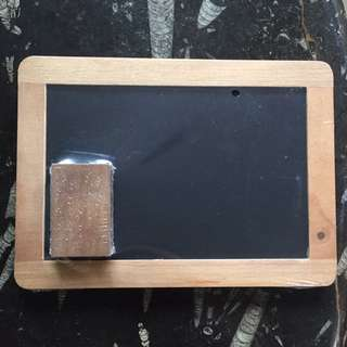 Chalkboard and paper pad