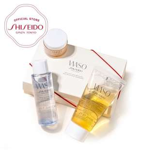 Shiseido WASO Quick Gentle Cleanser (50ml), WASO Fresh Jelly Lotion (50ml), WASO Clear Mega-Hydrating Cream (15ml)