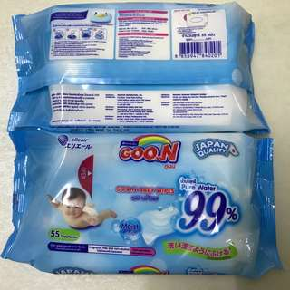 Goon Baby Wipes (55 Sheets) Japan Quality