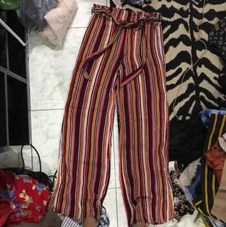 "Repriced!! ""Forever 21"" highwaisted stripe boho pants"