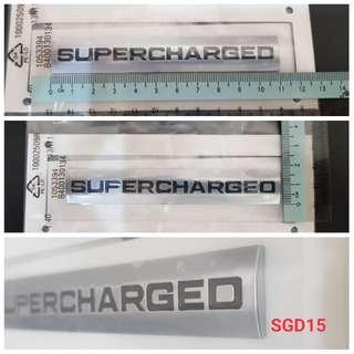 supercharged emblem