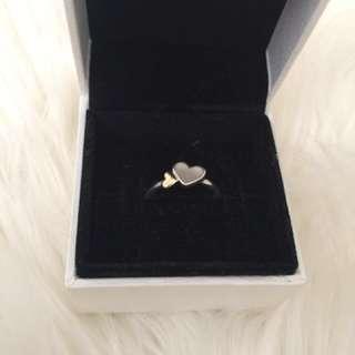 Pandora pearl and gold love hearts
