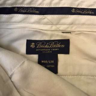 Brook brothers trouser 長褲 chino beige