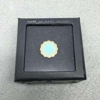 Marc Jacobs Sample Ring 粉藍色配金色花花戒指 直徑1.6 cm