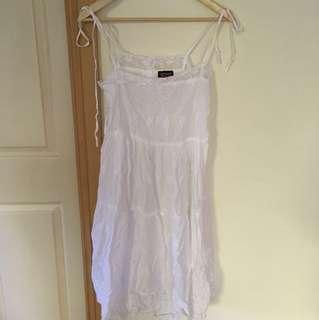 Topshop white summer dress