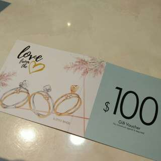GOLD HEART $100 discount. 2 vouchers available. Valid till 31 March. No minimum spending!