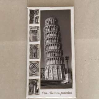 Pisa Tower in canvas