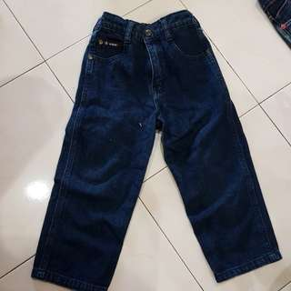 Denim long pant