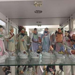 Eight Goddess Crossing Ocean: set of 8