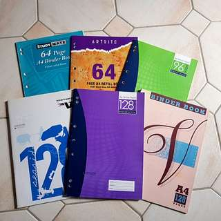 Various A4 Exercise Books