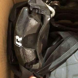Vw Golf mk 7 Front and Rear Brakes Set Black