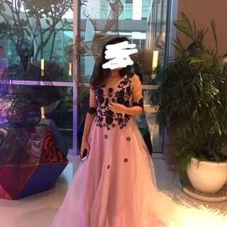 Preloved customized ball gown (sexy back)