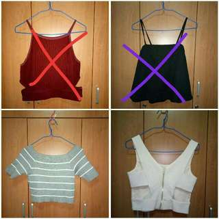 Clearance Sale! Crop tops