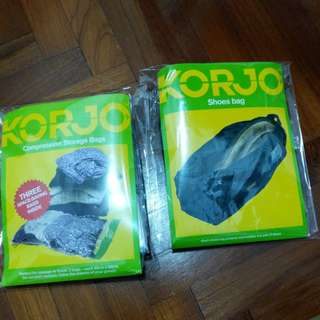 Korjo Shoes and Compression Storage Bags