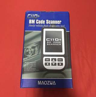 MAOZUA C110+ Latest V5.2 BMW Code Reader Airbag/ABS/SRS Diagnostic Scan Tool for BMW c110+