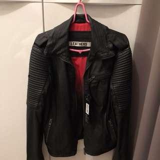 Superdry premium leather jacket