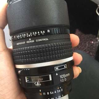 Nikon 105mm F2.0 DC lens