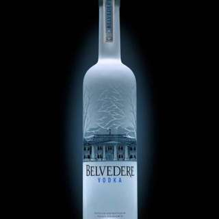 6 litres Belvedere bottle with lighting