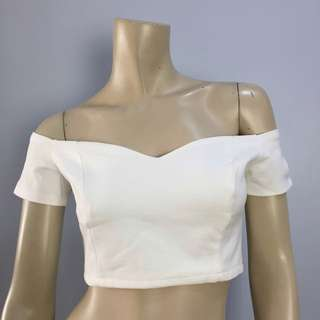 Charmant White Cropped Top