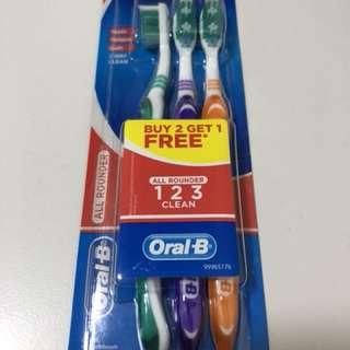 Oral B Toothbrush (Buy 2 free 1)