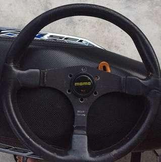 black racing 3 spoke