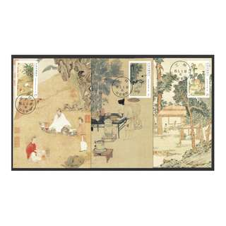 REP. OF CHINA TAIWAN 2016 ANCIENT CHINESE PAINTINGS (TEA) COMP. SET OF 3 MAXIMUM CARDS