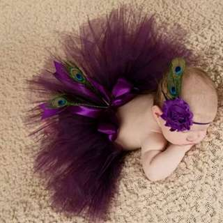 Newborn Baby Photography Props Baby Photo Props Peacock Handmade Peacock Feathers Beanie Cap Fotografia Newborn