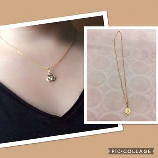 18k Gold chain with pendant 2.1g.