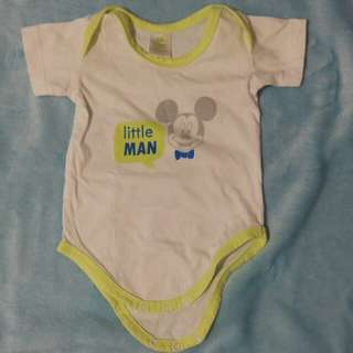Baby boy mickey onesie