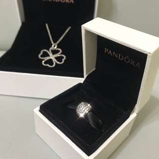 100% real & new Pandora charm and necklace