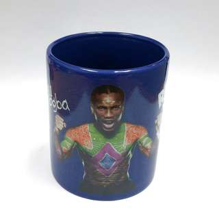 Collectible 2010 Pepsi Refresh Your World - #11 Didier Drogba FIFA World Cup South Africa Blue Drinking Mug