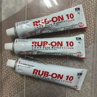Rub-On 10 (3 for $6)