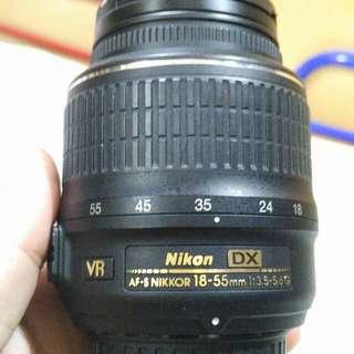 Nikon 18-55 mm kit len.