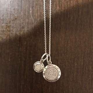 Pandora logo necklace and small logo pendant