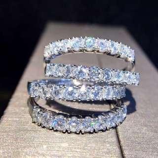 18K白金40份鑽石戒指