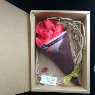 紅色玫瑰香皂花 (情人浪漫) couple gift: rose handmade soap, soap flower