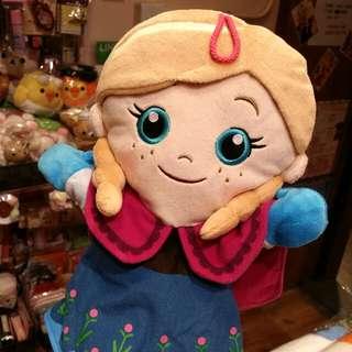 100% 原裝日本 Disney Frozen Anna 安娜 公主 可愛 手偶 公仔 Hand puppet
