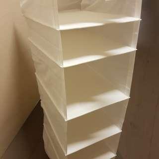 Ikea cabinet clothe shelving